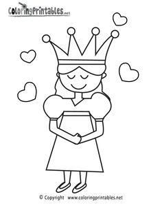 Princess Coloring Page Printable.