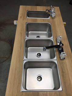 695 00 Portable Concession 4 Quot 3 Quot Compartment Sink Ebay