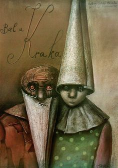 Bal u Kraka Mixed Media - Stasys Eidrigevicius....love it