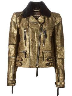 ROBERTO CAVALLI metallic biker jacket £6,699.58