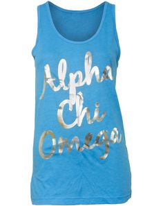 Alpha Chi Omega Lyre Tank...why didn't we have cute stuff like this back in the day!