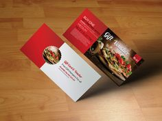 Fast Food Gift Voucher by Psd Templates on @creativemarket