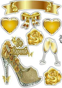 Feliz Aniversário Deco Stickers, Printable Stickers, Cupcake Cake Designs, Wedding Prints, Paper Cake, Cake Toppings, Diy Gifts, Decoupage, Clip Art