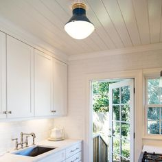 Kitchen Lighting with the UECo. Lundy flush mount