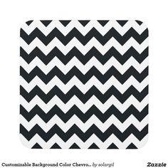 Customizable Background Color Chevron Zigzag Beverage Coaster