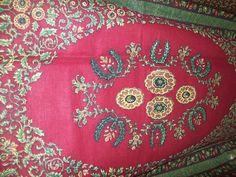 Burgundy Java floral print