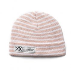 7165cd15516 Krochet Kids Stripe Newborn Hat (pale rose) at Black Wagon Newborn Beanie