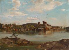 Hjalmar Munsterhjelm - Olavinlinna luonnos - dated: 1873 (?) #hjalmarmunsterhjelm #art #painting #artoftheday #paint #instaart #artwork #artist - Courtesy Finnish National Gallery