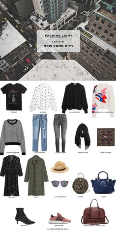 What to Pack for 5 Days in New York City Packing Light List | What to Pack for New York City | Packing Light | Packing List | Travel Light | Travel Wardrobe | Travel Capsule | Capsule | Capsule Wardrobe | Travel | Travel tips | What to Pack | New York City | Livelovesara