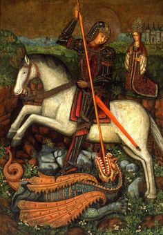 St. George and the Dragon, by the Girard Master, 15th century Spain. Legion of Honor/Fine Arts Museums of San Francisco.