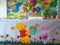 Fiestas infantiles con Winnie Pooh - Imagui Winnie The Pooh Birthday, Alice In Wonderland, Ideas Para, Ale, Baby Shower, Babies, Disney, Party, Kids