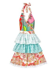 Colored apron with frills - Grembiule colorato con balze