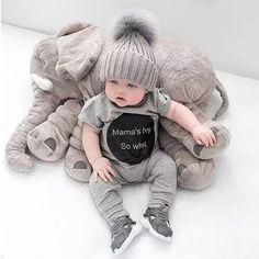 Christmas cuddly TOY ELEPHANT PILLOW Plush Baby Elephant Stuffed Animal Big Cute Soft Infant Baby Boy Girl Appease Decoration Nursery Gift