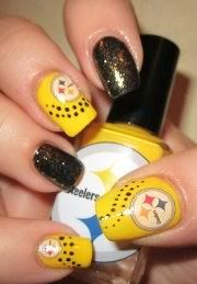 steeler nails black and yellow loving this!