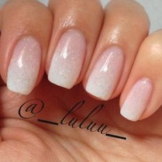 Nude & Glitter Wedding Nails for Brides / http://www.himisspuff.com/wedding-nail-art-desgins/8/ White French Tip, French Toes, Ombre French, French Tip Nails, Nail French, Nail Nail, Diy Nails, Nail Polish, Manicure