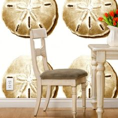 Think big! Print Wallpaper, Dining Chairs, Stripes, Patterns, Rugs, Fabric, Color, Furniture, Home Decor