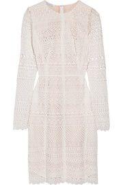 Oscar de la RentaCotton-blend guipure lace dress