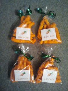 "minecraft ""carrots"" for goody bags"