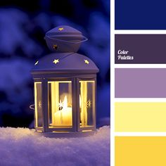 This palette represents a standard combination of violet and yellow colours. Dark, rich violet is the basis of the palette and it combines perfectly with t Best Picture For wedding color palette blue Purple Color Palettes, Colour Pallette, Christmas Palette, Christmas Colors, Christmas Colour Schemes, Color Balance, Winter Colors, Color Swatches, Color Theory