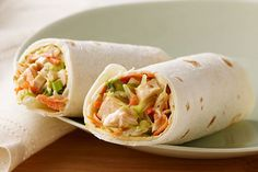 Toasted sesame dressing and crunchy veggies give these quick and easy chicken wraps their Asian-inspired appeal.