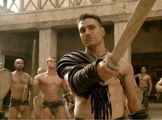 Manu Bennett, Spartacus, Sexy Men, Sculpting, Muscle, Statue, Gladiators, Sculpture, Man Candy Monday