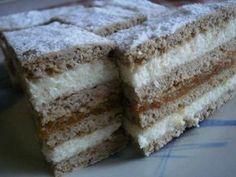 Recepti za top jela i poslastice: Kremasta fantazija! Hungarian Desserts, Hungarian Recipes, Hungarian Food, My Recipes, Sweet Recipes, Cookie Recipes, Snickerdoodle Blondies Recipe, Cake Bars, Sweet And Salty