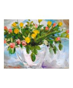 Crain Painting: Pink and Yellow Roses