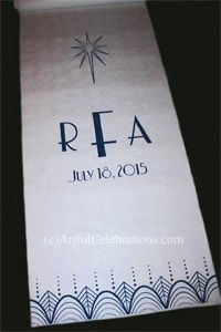 Aisle Runners - Artful Celebrations - Hand Calligraphy, Painted Aisle Runners & Hand Engraving
