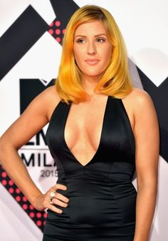 Ellie Goulding looking like a stunner with her new orange hair at the EMAs
