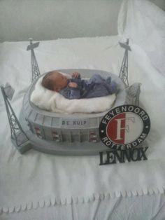 Feyenoord fan builds replica of De Kuip stadium as baby's cot