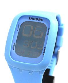 DW410J Lyseblå Kasse Alarm baggrundsbelysning Unisex Elegant Touch Digital Watch