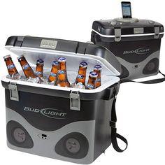 Bud Light Radio Cooler with iPod Dock