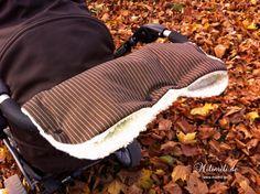 Kuschelig warmer Kinderwagenmuff mit Nadelstreifen von      ❄ milimili ❄     auf DaWanda.com