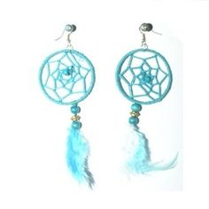 Healing+Blue+Earring Buy Dream Catcher, Dream Catcher Earrings, Blue Earrings, Pearl Earrings, Gold Pearl, Healing, Red, Pearl Studs, Bead Earrings