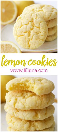 Lemon Cake Mix Cookie Soft and Simple Lemon Cookies are a favorite with everyone. The butter, cream cheese and powdered sugar in this Lemon Cake Mix Cookie make them totally melt in your mouth! Lemon Cake Mix Cookie Recipe, Lemon Cookies Easy, Lemon Cake Mix Cookies, Lemon Sugar Cookies, Lemon Cake Mixes, Cake Mix Recipes, Sugar Cake, Simple Cookie Recipe, Cookies Soft