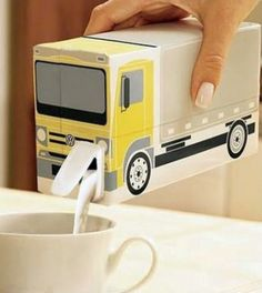 Great idea for a pouring carton, can shape as any vehicle