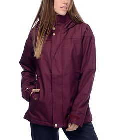 From winter storms to warm blue bird days, the Jet Set snowboard jacket in the…