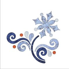 (7) Name: 'Quilting : Applique Block - Let It Snow Block #2