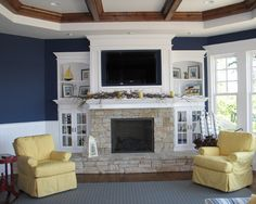 Traditional Family Room Fireplace Design Ideas, Pictures, Remodel, and Decor - page 13 Traditional Fireplace, House Design, Traditional Family Rooms, Fireplace Design, Home, Family Room Fireplace, Family Room, Fireplace Built Ins, Fireplace Hearth