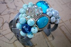 Blue explosion. Super chunky blue cuff by OutsiderArtJewelry, $40.00