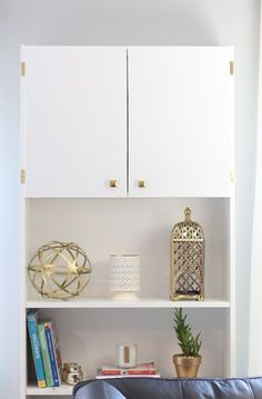 IKEA BILLY Hack: How to Cover Up An Ugly AC Wall Unit   Apartment Therapy