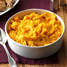 Honey-Thyme Butternut Squash Recipe -This golden, honey-sweetened squash is just as hearty and comforting as your favorite potato dish. With its bright color, it makes an attractive side for special autumn meals. —Bianca Noiseux, Bristol, Connecticut