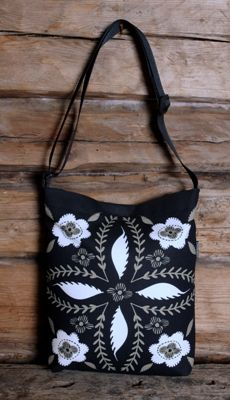 Amazing bags from Finland's Lyckoboda Label - using ancient peasantart patterns.