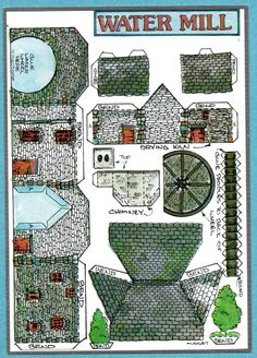 Fiddler's Green Cut Out Postcard The Water Mill | eBay