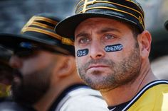 SOS VENEZUELA:    Pittsburgh Pirates catcher Francisco Cervelli wears SOS Venezuela on his eye black patches against the Milwaukee Brewers at PNC Park in Pittsburgh on May 7. Cervelli was born in Venezuela.