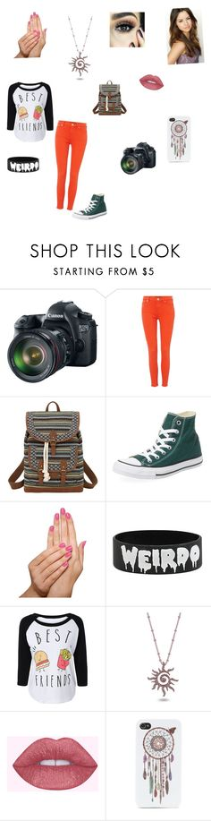 """""""Harper Blue book"""" by isabelle-923 on Polyvore featuring Eos, Lauren Ralph Lauren, Bandana, Converse, Piggy Paint, Amabel Designs and With Love From CA"""