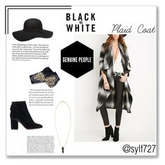 """Plaid Coat"" by sylf727 ❤ liked on Polyvore featuring Isabel Marant, Dorothy Perkins and Topshop"