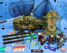 Fishing Set Complete Set 3 Rods + Accessories, Fishing NEW