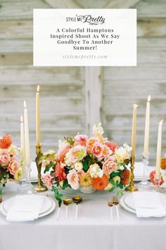 Scattered with flowers that encompassed a late summer harvest, along with romantic taper candles and pops of peaches, this farm chic inspired soirée is just beaming with pretty! 🍑✨ Photography: @bluerosepictures #weddingtable #farmwedding #rusticwedding #summerwedding Farm Wedding, Wedding Table, Summer Wedding, Rustic Wedding, Wedding Ideas, Saying Goodbye, Taper Candles, Reception Table, Late Summer
