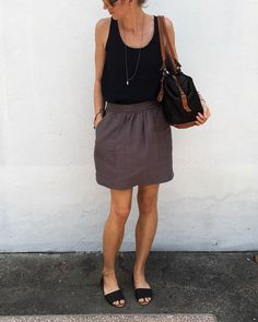 Basics Pocket Skirt  The Basics Line was created in an effort to offer designs that you can wear every day. The Pocket Skirt gives the